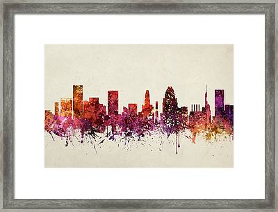 Baltimore Cityscape 09 Framed Print by Aged Pixel