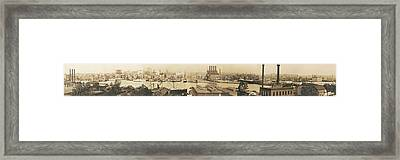 Baltimore From Federal Hill Circa 1906 Framed Print by Bill Cannon