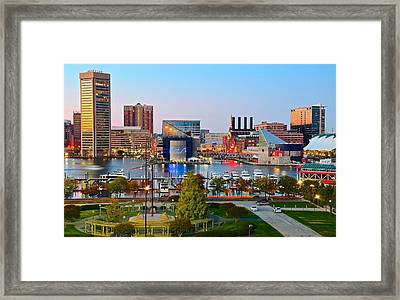 Baltimore From The Hill Framed Print
