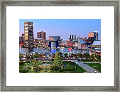 Baltimore Harbor 2016 Framed Print by Frozen in Time Fine Art Photography