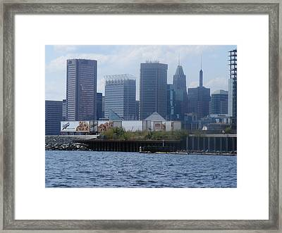 Baltimore Harbor Framed Print by James and Vickie Rankin