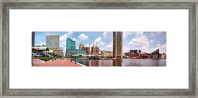 Baltimore Harbor Panorama Framed Print