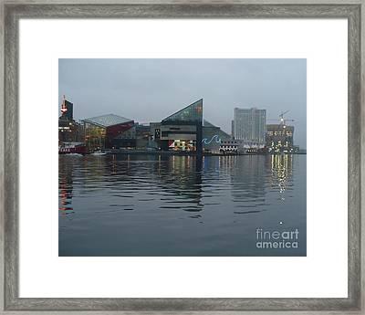 Baltimore Harbor Reflection Framed Print by Carol Groenen