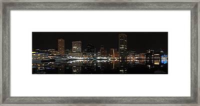 Baltimore Harbor Framed Print