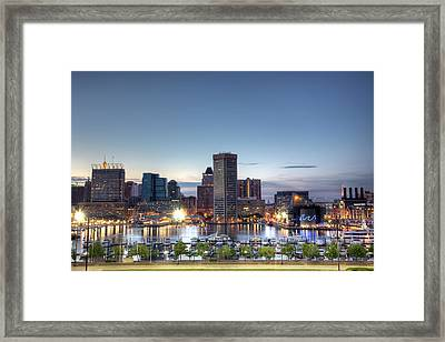 Baltimore Harbor Framed Print