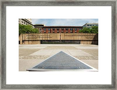 Baltimore Holocaust Memorial Framed Print