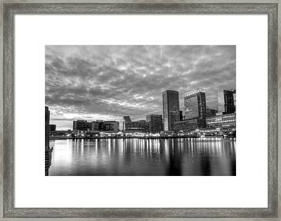 Baltimore In Black And White Framed Print by JC Findley