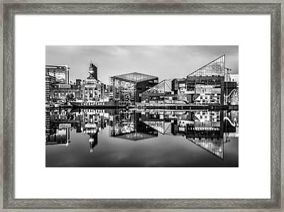 Baltimore In Black And White Framed Print