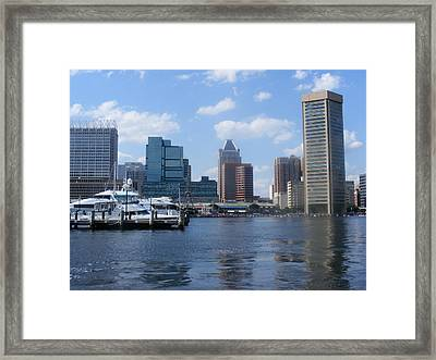 Baltimore Inner Harbor Framed Print by James and Vickie Rankin
