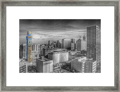 Baltimore Landscape - Bromo Seltzer Arts Tower Framed Print by Marianna Mills