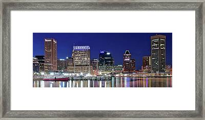 Baltimore Maryland City Panorama Framed Print by Frozen in Time Fine Art Photography