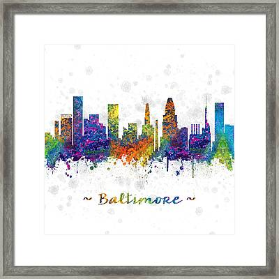 Baltimore Maryland Color 03sq Framed Print by Aged Pixel