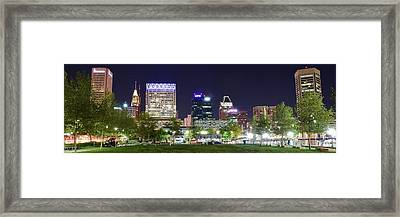 Baltimore Panorama 2016 Framed Print by Frozen in Time Fine Art Photography