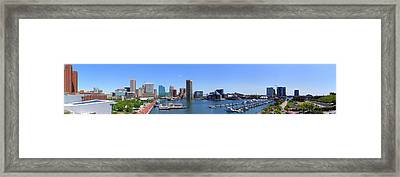 Baltimore Panorama 2016 Framed Print by Michael French