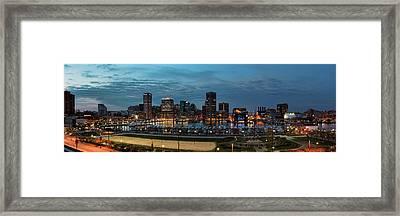 Baltimore Panorama Framed Print