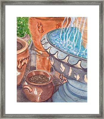 Framed Print featuring the painting Baltimore Pots by Joan Zepf