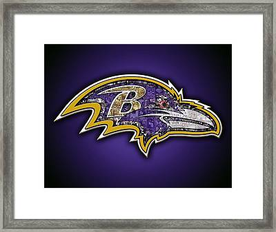 Baltimore Ravens Framed Print by Fairchild Art Studio