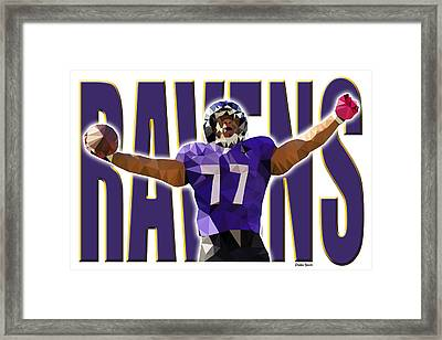 Framed Print featuring the digital art Baltimore Ravens by Stephen Younts