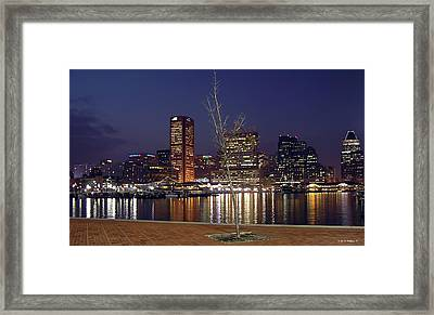 Framed Print featuring the photograph Baltimore Reflections by Brian Wallace