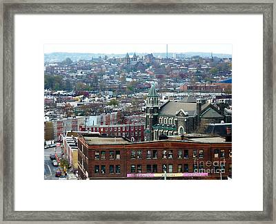 Baltimore Rooftops Framed Print by Carol Groenen