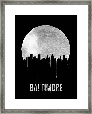 Baltimore Skyline Black Framed Print