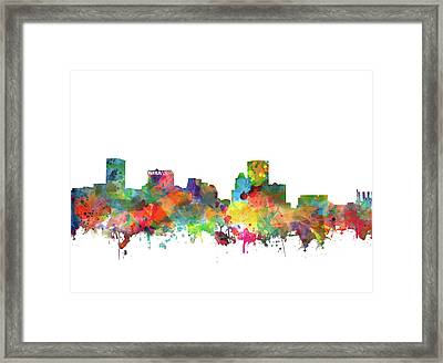 Baltimore Skyline Watercolor 3 Framed Print