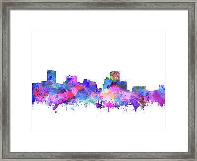 Framed Print featuring the painting Baltimore Skyline Watercolor 4 by Bekim Art