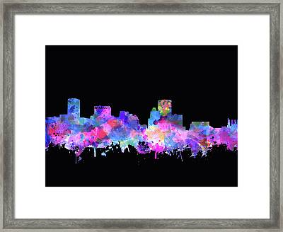 Baltimore Skyline Watercolor 5 Framed Print