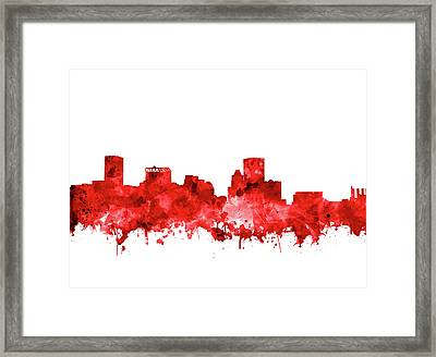 Framed Print featuring the painting Baltimore Skyline Watercolor 7 by Bekim Art