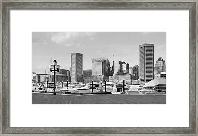 Baltimore Waterfont - Inner Harbor  Framed Print by Brendan Reals