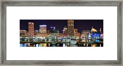 Baltimore Waterfront Framed Print by Frozen in Time Fine Art Photography