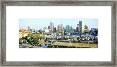 Framed Print featuring the photograph Baltimore's Inner Harbor by Brian Wallace