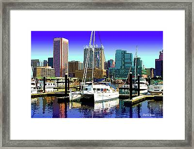 Baltimore's Inner Harbor Framed Print by Stephen Younts