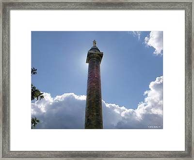 Framed Print featuring the photograph Baltimore's Washington Monument by Brian Wallace