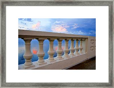 Balustrades Of Tampa Florida Framed Print by David Lee Thompson