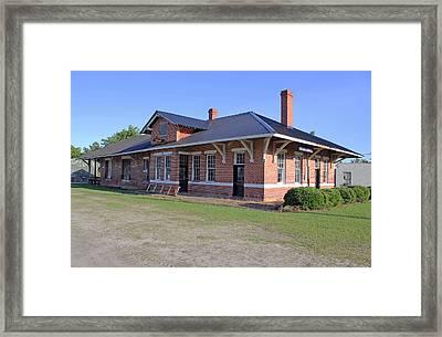 Bamberg Erhardt And Walterboro Railroad Framed Print by Joseph C Hinson Photography