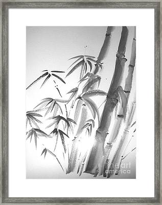 Framed Print featuring the painting Bamboo 2 by Sibby S