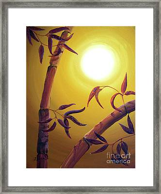 Bamboo After A Light Rain Framed Print by Laura Iverson
