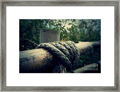 Bamboo And Knotted Rope Framed Print