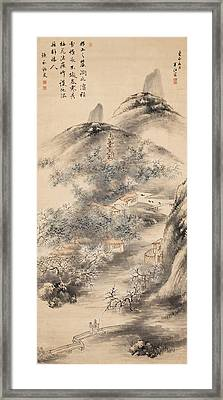 Bamboo And Plum In Early Spring Framed Print