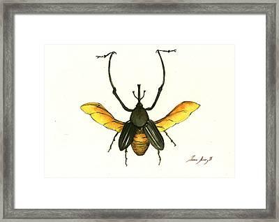Bamboo Beetle Framed Print