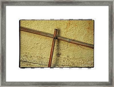 Bamboo Cross Framed Print