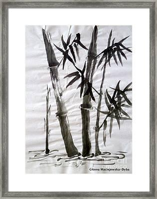 Bamboo Grove 6 Framed Print by Anna Folkartanna Maciejewska-Dyba