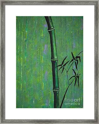 Framed Print featuring the painting Bamboo by Jacqueline Athmann