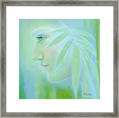 Framed Print featuring the painting Bamboo by Ragen Mendenhall