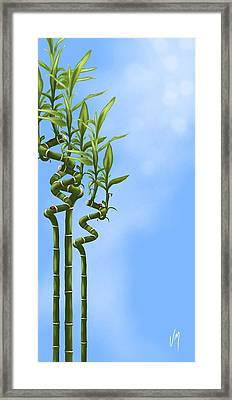 Bamboo Framed Print by Veronica Minozzi