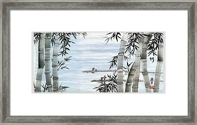 Bamboo Village Framed Print by Ping Yan