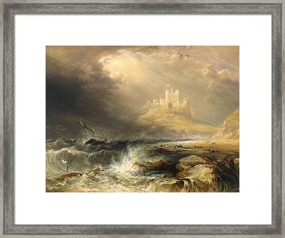 Bamborough Castle Framed Print by Willliam Andrews Nesfield