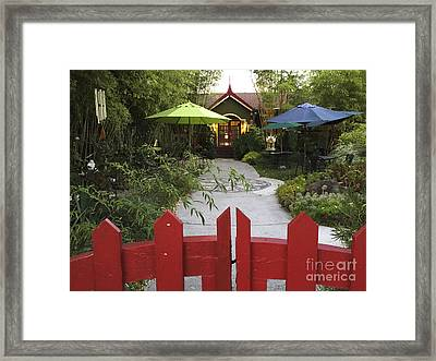 Bambu Tea House Framed Print