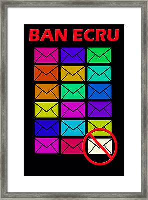 Ban Ecru Framed Print